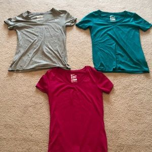 3 Woman's nike dry fit shirts for $15